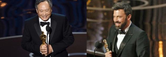 Ang Lee y Ben Affleck, triunfadores de los Oscar 2013.