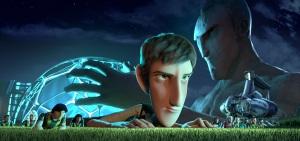 El protagonista y sus compañeros de 'Futbolín', dirigida por Juan José Campanella.